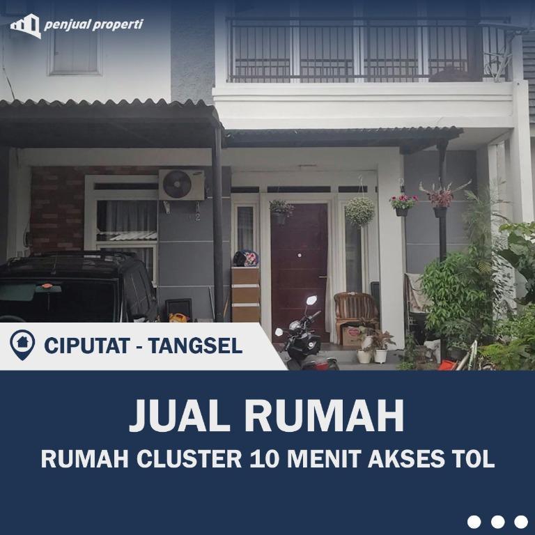 RUMAH CLUSTER BEBAS BANJIR AKSES TOL DI CIPUTAT TANGSEL