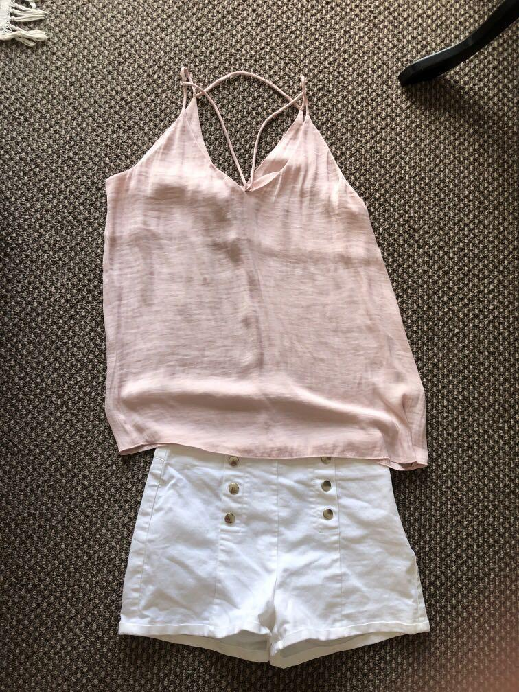 Top and shorts outfit