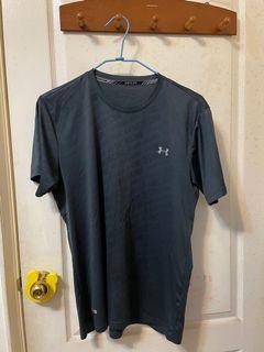 二手-UNDER ARMOUR深灰藍色透氣短袖