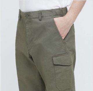 Uniqlo Men's Cargo Jogger Pants (Olive) XXL