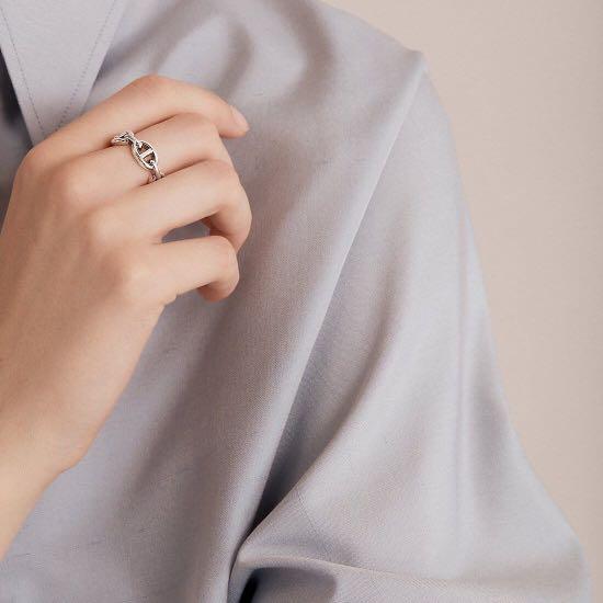 全新愛馬仕豬鼻子925純銀戒指 56號