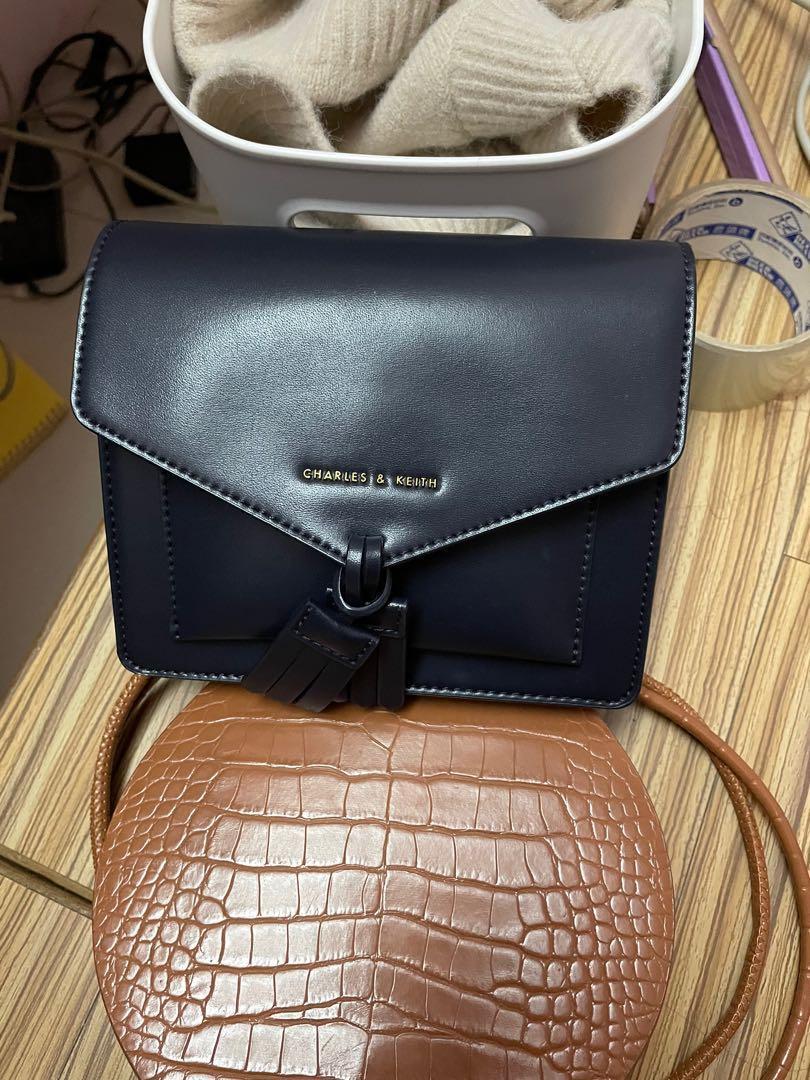 9成新小ck信封側背包(深黑色)