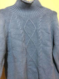 寶寶藍厚磅針織毛衣
