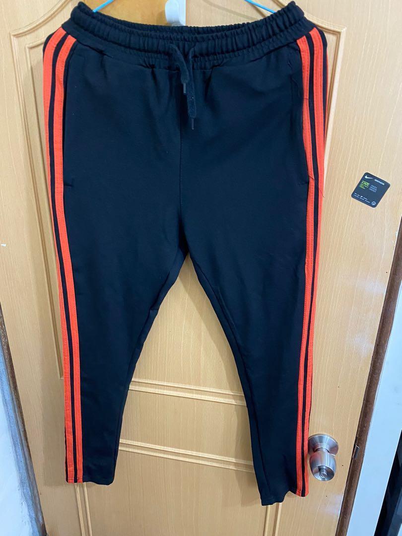 橘線三線長褲