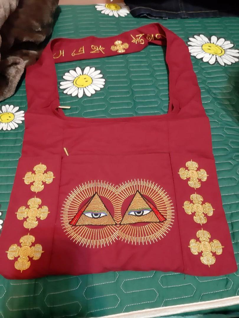 很酷的密宗眼睛包包/酒紅色/cool red eyes bag
