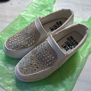 白色閃閃女鞋 增高