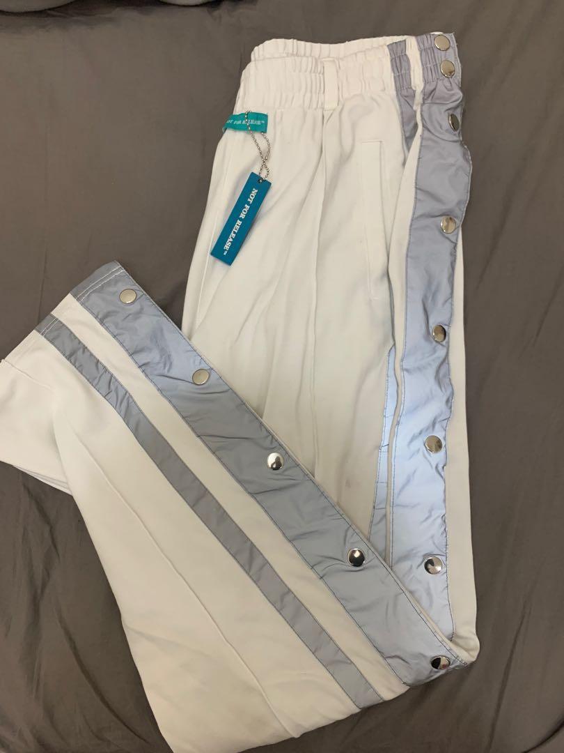 反光排扣褲