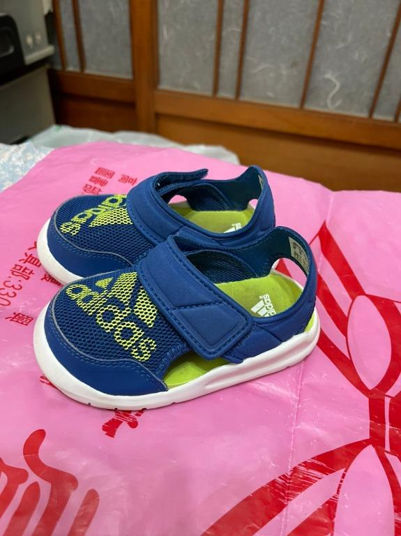 「 二手鞋 」 Adidas 男童涼鞋 US6K(藍)51