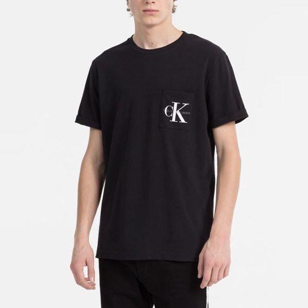 全新正品現貨 Calvin Klein 口袋 印圖 黑色 短袖 T恤 ck 編號CK001W7