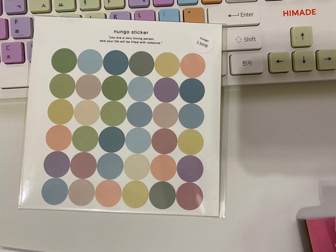 韓式彩色圓貼紙- nuncio sticker