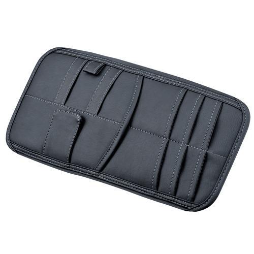 權世界@汽車用品 日本SEIWA 多功能大容量 智慧型手機收納 遮陽板置物袋 收納套夾 WA62
