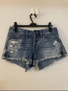 A&F牛仔短褲abercrombie & fitch