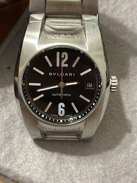 稀有黑面BVLGARI寶格麗中性自動上鍊機械錶
