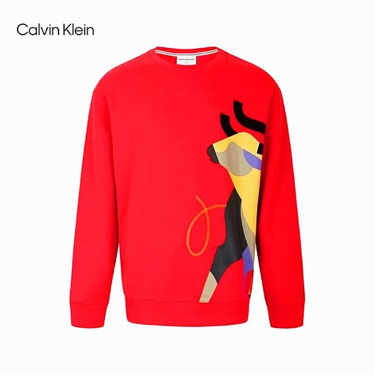 美國品牌Calvin Klein牛年大紅牛印花長袖T恤