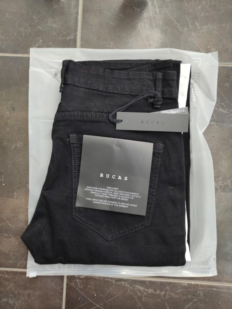 Celana jeans Rucas White Stripe original