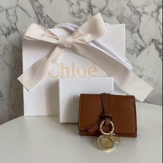 Chloe Alphabet mini wallet in tan
