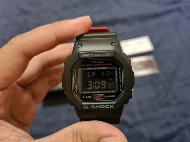 G Shock DW 5600HR 1DR NEW Baru Casio