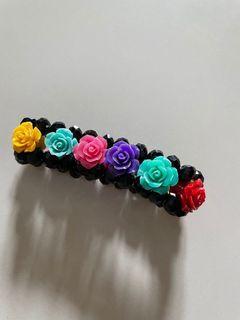 gelang kristal rose bunga mawar