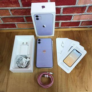 IPhone 11 64GB Purple Fullset original Resmi IBOX