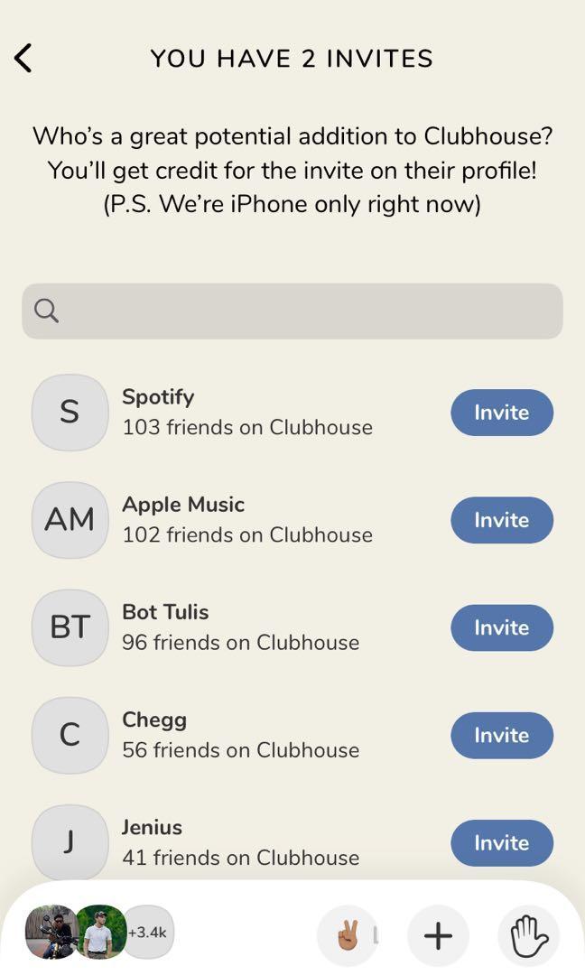 Jasa Invite Clubhouse