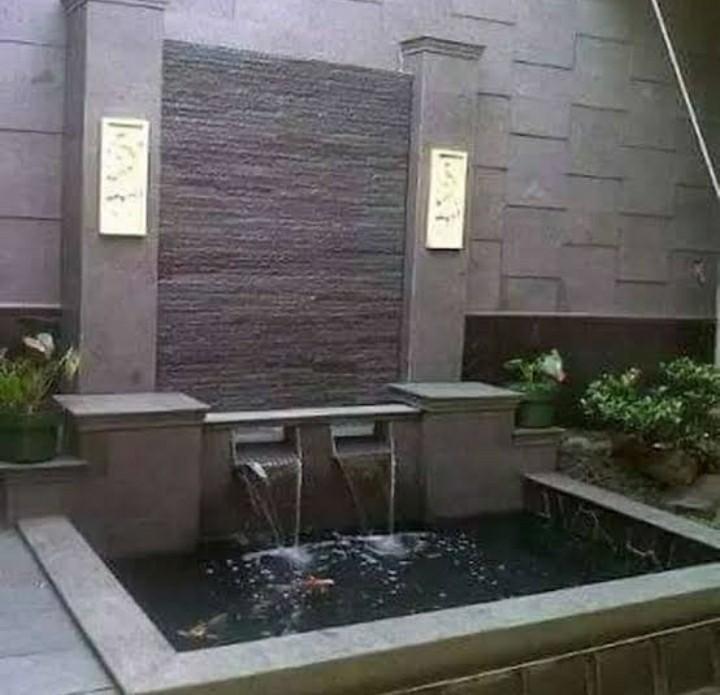 Jasa pembuatan taman relief dingding minimalis