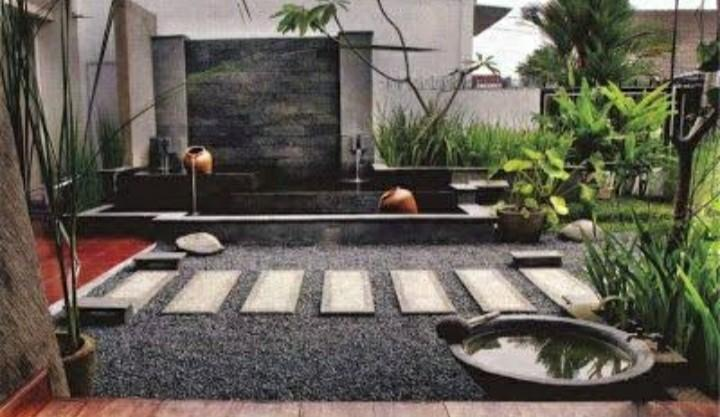 Jasa pembuatan taman relif minimalis