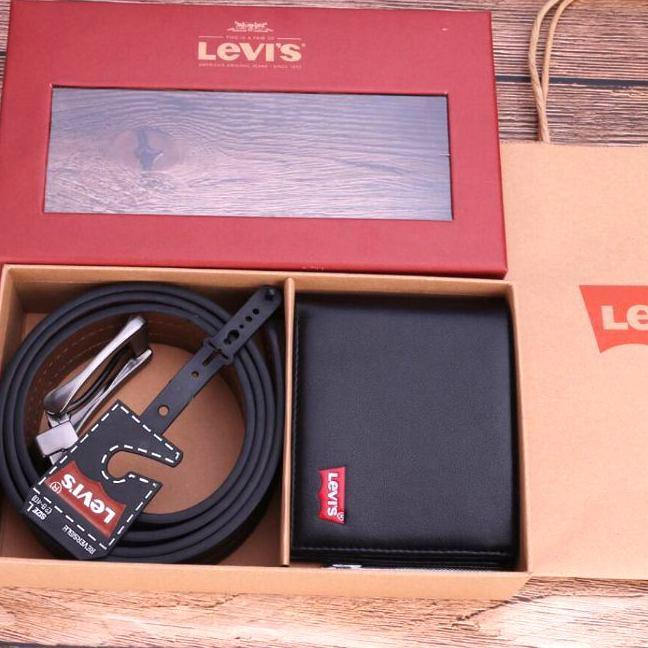 全新Levi's禮盒組 皮帶+錢包