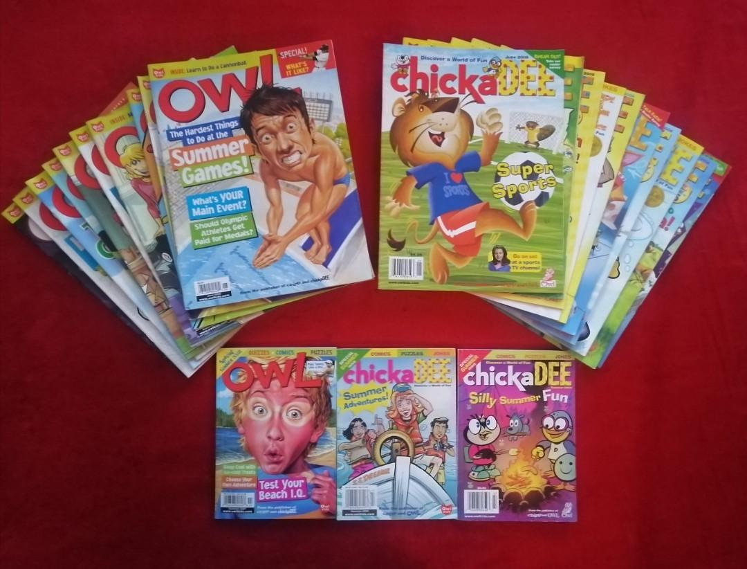 Lot of 23 OWL & Chick A Dee Magazines