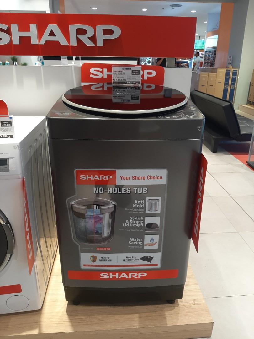 Mesin cuci 12kg sharo Kredit Tanpa Jaminan By Homecredit