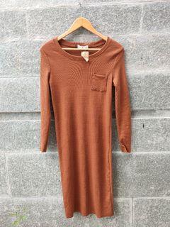 Midi Dress / Dress Cokelat