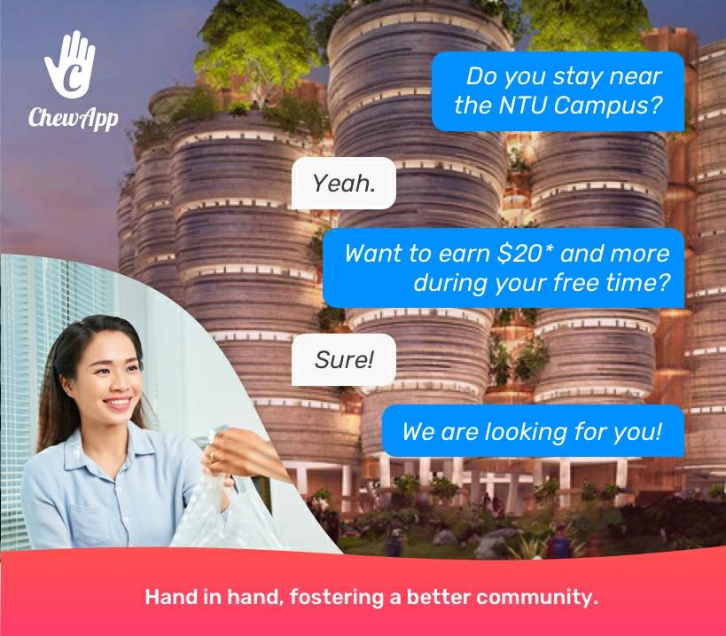 Part Time Deliverers near NTU area