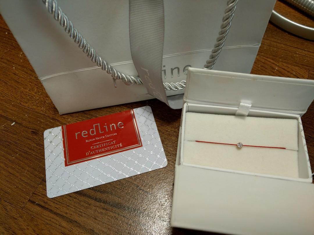 Recline 5分鑽 紅線手鍊