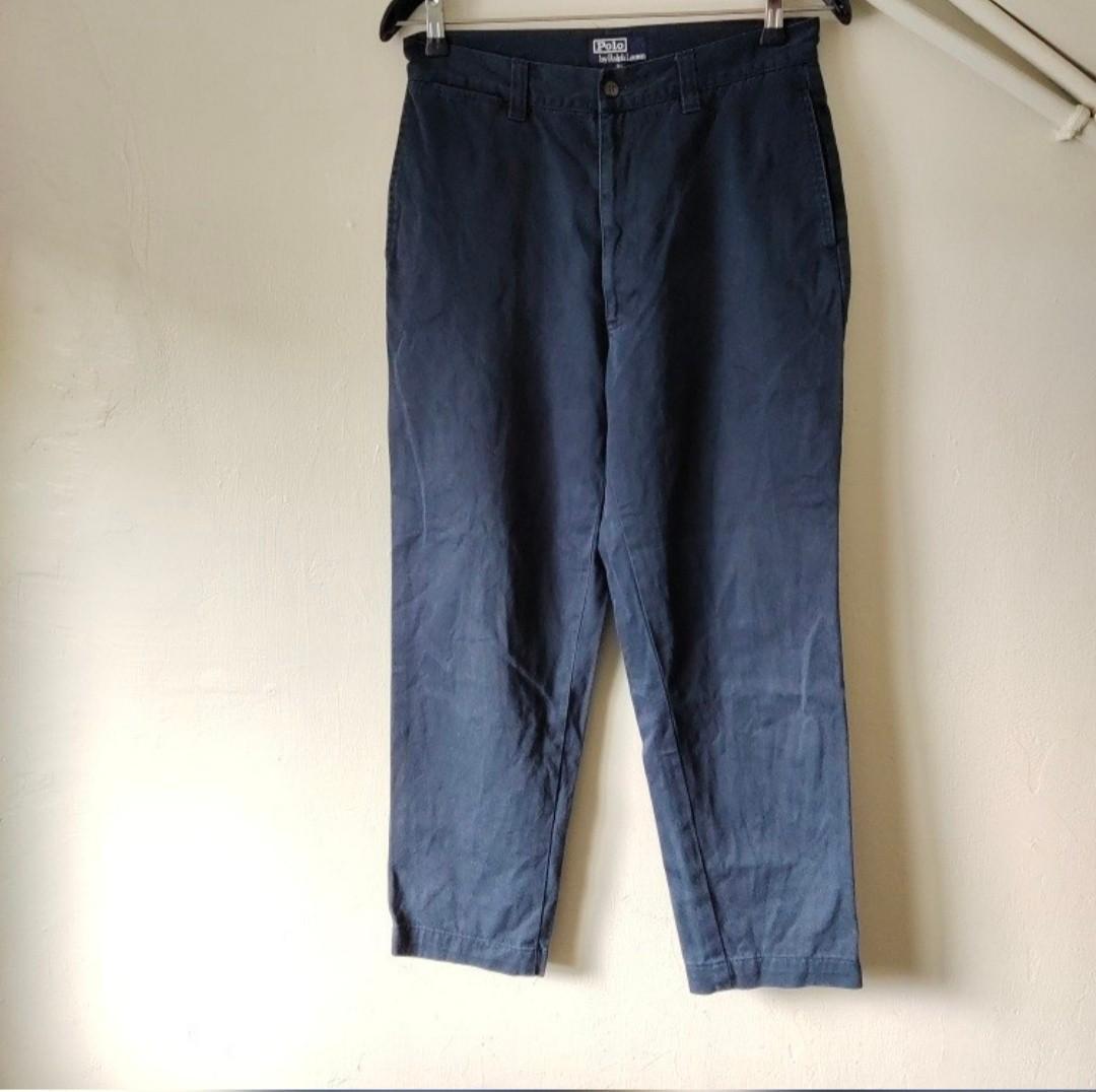 R.L POLO 工裝藍 休閒 修身 9分 長褲