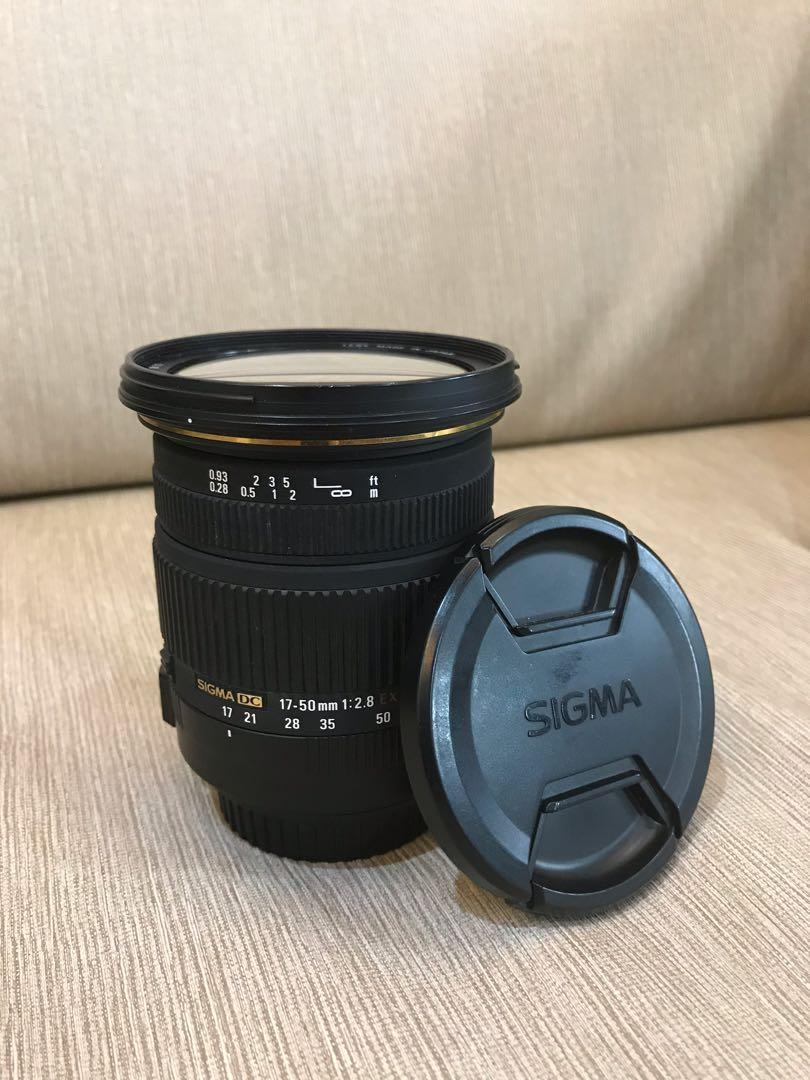 Sigma 17-50mm f/2.8 for Canon