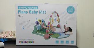 全新SPRING FLOWER Piano Baby Mat 腳踏鋼琴健力架遊戲墊
