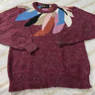 sweater rajut  bulu