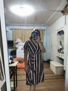 Wrap around midi dress