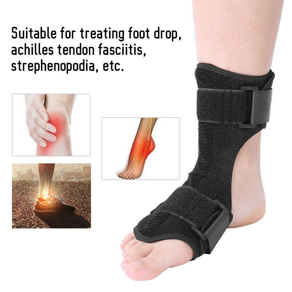 1pc Adjustable Foot Drop Ankle Leg Brace Plantar Fasciitis Splint Orthotic Night Splints
