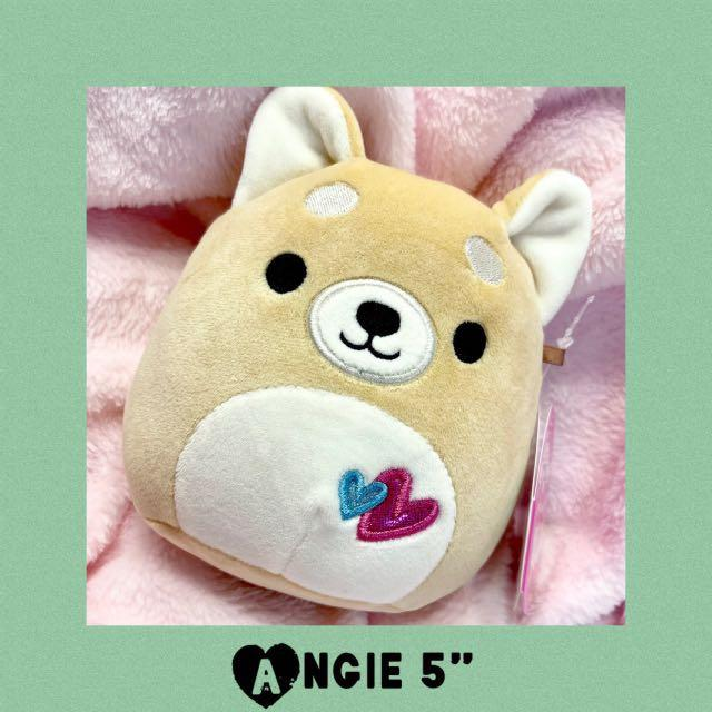 "Angie Squishmallows Dog 5"" Plush 2021 Valentine's Day"