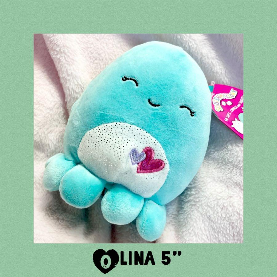 "Olina Squishmallows Octopus 8"" Plush 2021 Valentine's Day"
