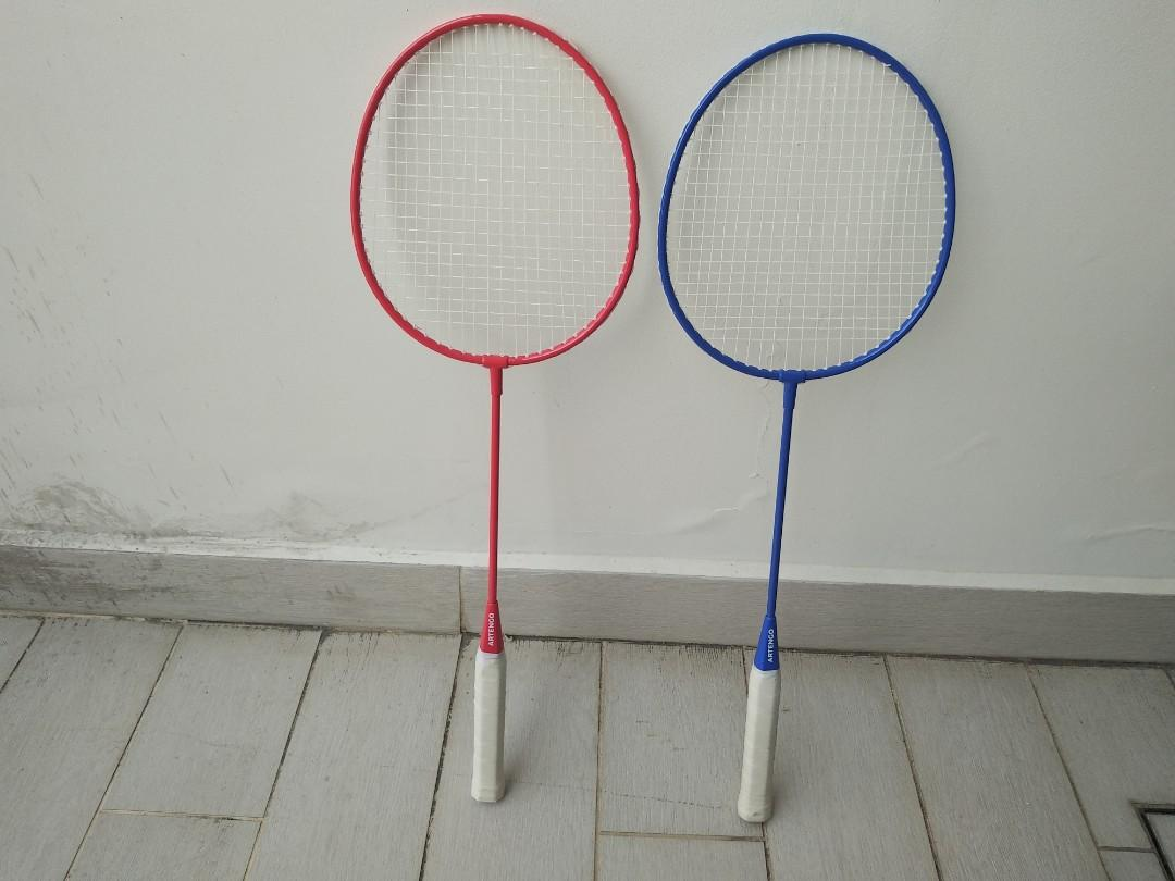 2 Badminton Rackets + 2 Shuttlecocks