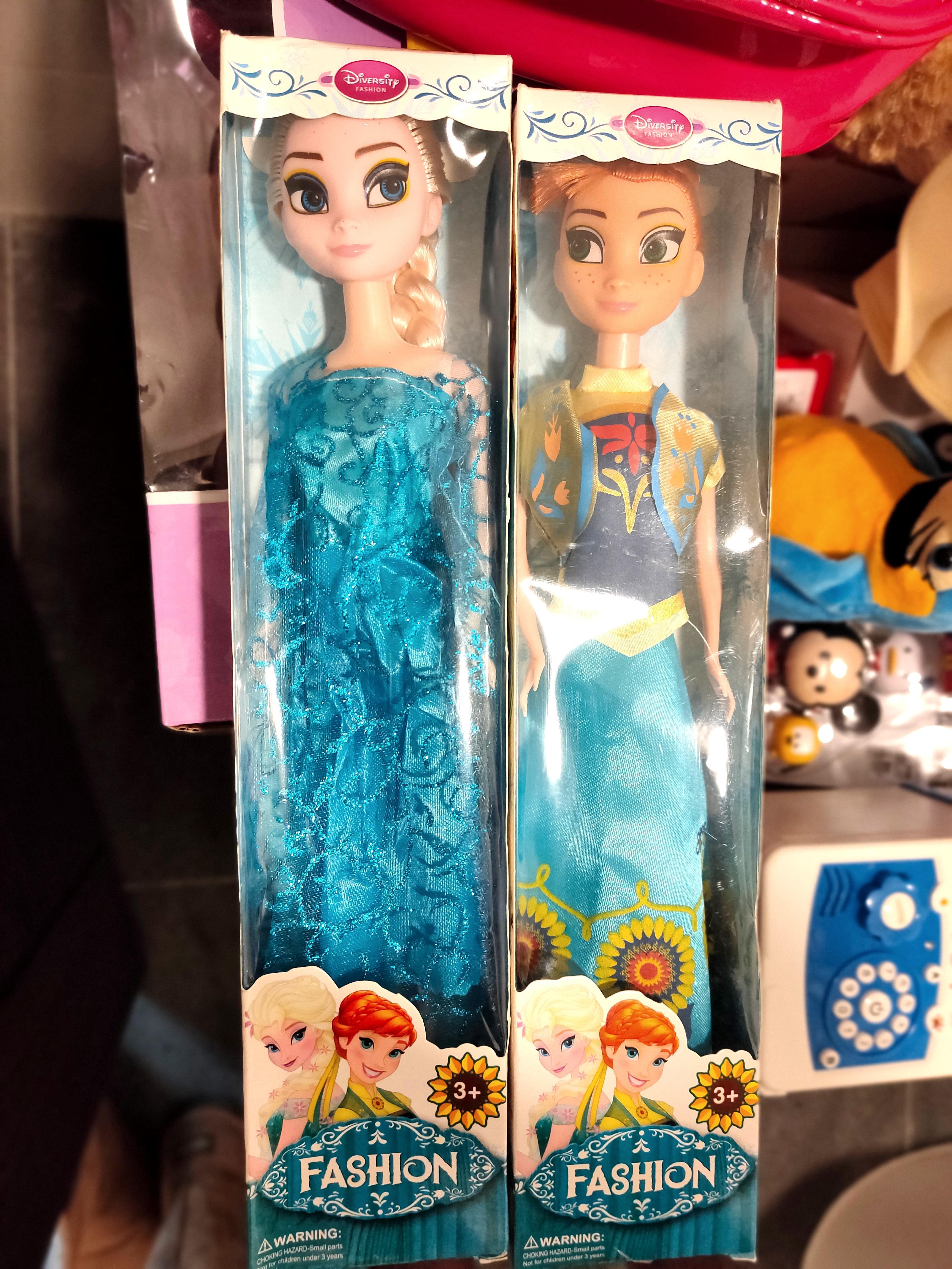 冰雪奇緣娃娃玩具艾莎公主安娜套裝娃娃女孩玩具愛莎公主