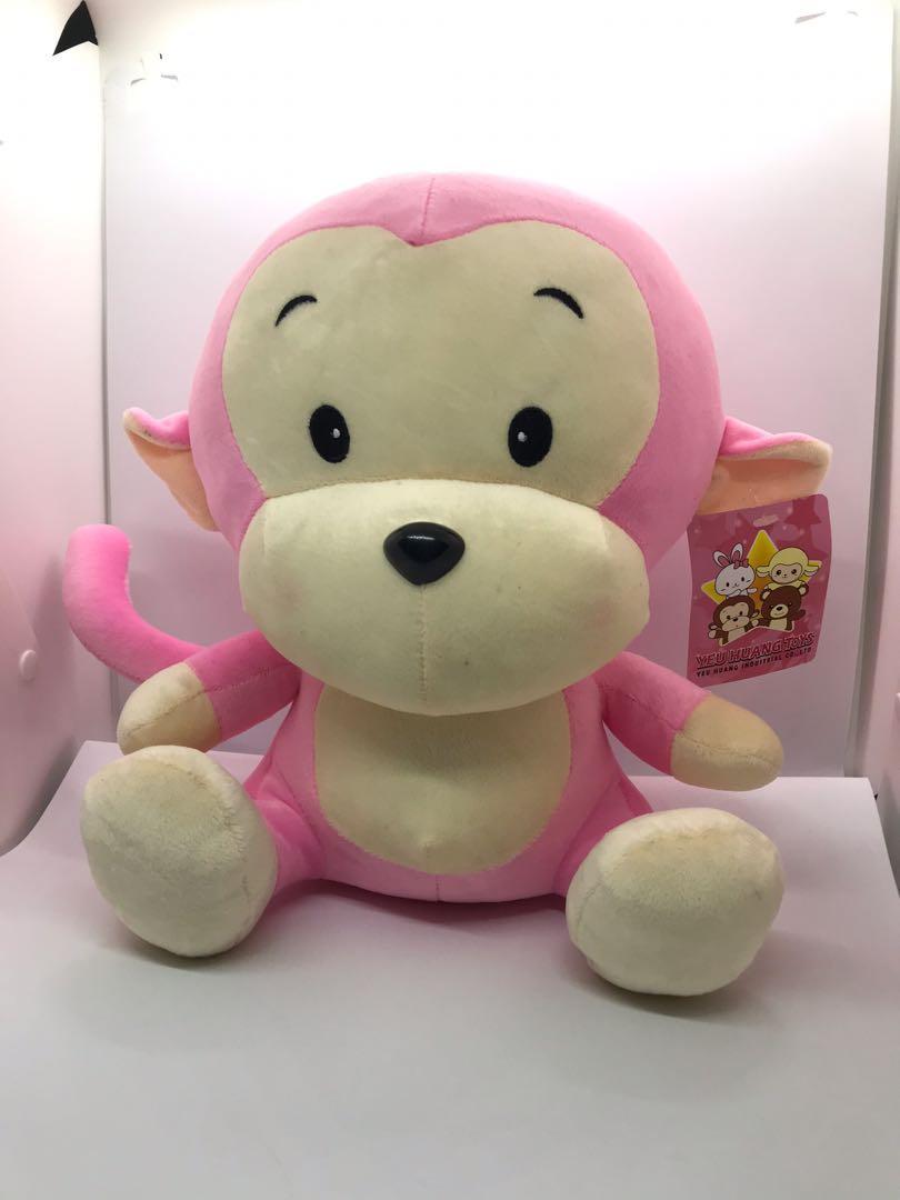 粉紅猴子娃娃