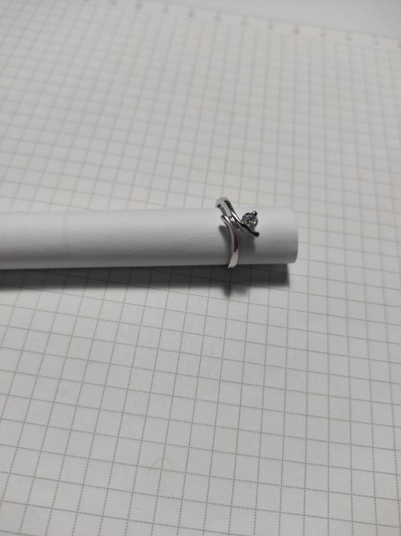 (戒圍有 7。7.5。9 號)925純銀戒指鑲鑽💎