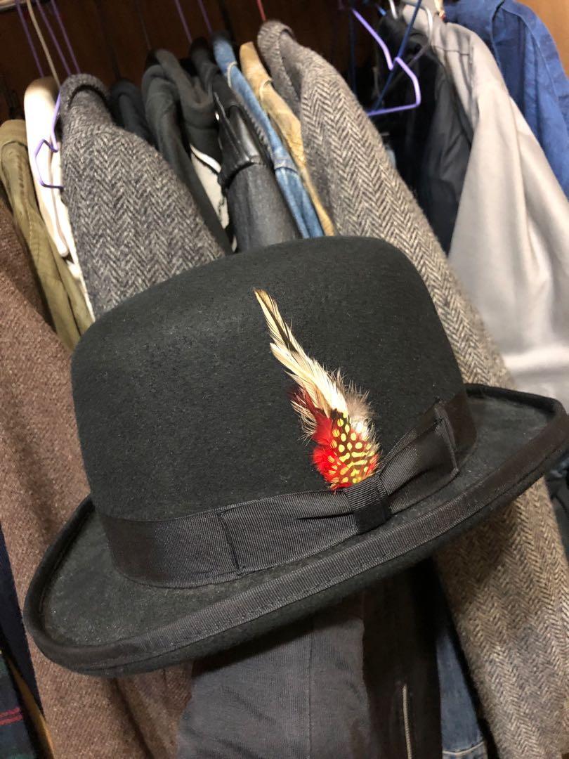 紳士帽 德比帽 圓禮帽 全新 全羊毛