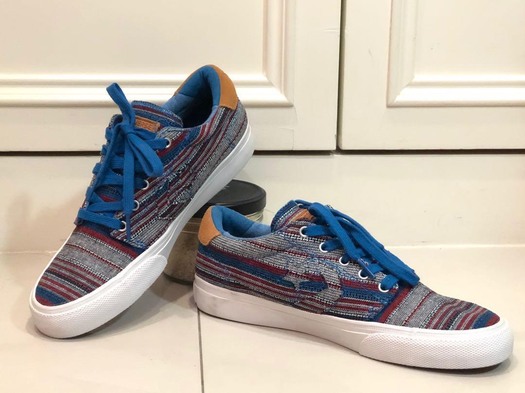 美國帶回 Converse 滑板鞋 帆布鞋 板鞋 民族風 刺繡 牛仔 皮革