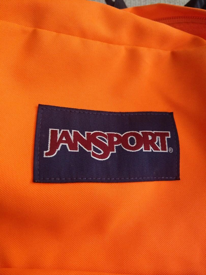 美國 jansport亮橘色螢光橘後背包 運動後背包 Nike可參考