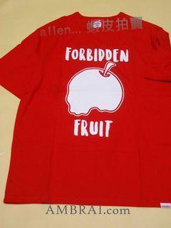 【AMBRAI.com】現貨 可面交 Forbidden Fruit Season 禁果 骷髏 短袖 短T Logo aes 小鬼 黃鴻升 紅色 深藍