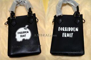 【AMBRAI.com】可面交 Forbidden Fruit Season 1 inner Logo Pouch Bag 禁果 皮革 手拿包 手提包 背包 肩包 aes Logo 小鬼 黃鴻升 副牌