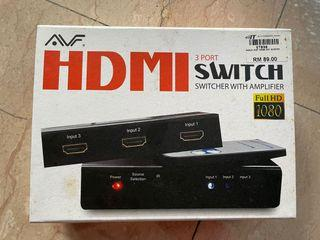 AVF HDMI 3 port HDMI Switch with Amplifier